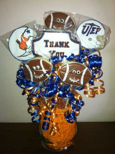 Thank you bouquet for football coach speaker | Cookie Connection