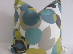 Decorative Pillow Covers- Aqua Green Ivory Yellow Light Gray and Taupe - Floral Pillows -Teal Pillow Covers-Turquoise Pillows- Pillow covers Teal Pillow Covers, Teal Pillows, Turquoise Pillows, Floral Pillows, Decorative Pillow Covers, Pillow Inserts, Throw Pillows, Navy Living Rooms, Living Room Turquoise