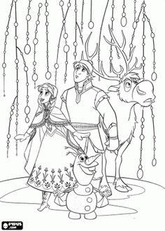 Disneys Frozen Coloring Pages Free Disney Printable Frozen Color