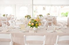 Clean and elegant tablescape - Sarasota Romantic Fall Wedding