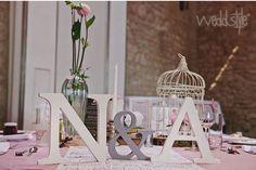 Initialen Buchstaben des Brautpaars als Hochzeitsdeko #weddstyle