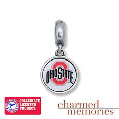 This Charmed Memories® charm, featuring the signature logo of The Ohio State University, is the perfect addition to game day apparel! The charm is crafted of sterling silver.