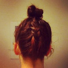 bun with back braid