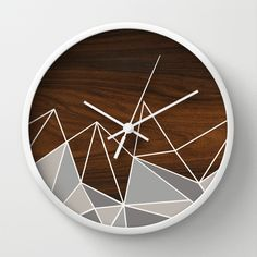 facet in grey wall clock - jefdesigns