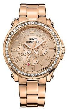 Juicy Couture Pedigree Boyfriend Pink Gold Watch - ShopStyle Women 49fd7e0bd2d