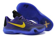 a9a5e427d7db Kobe 10 X Laker Purple Gold Nike Shox Shoes