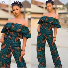 Rock the Latest Ankara Jumpsuit Styles these ankara jumpsuit styles and designs are the classiest in the fashion world today. try these Latest Ankara Jumpsuit Styles 2018 African Inspired Fashion, African Dresses For Women, African Print Fashion, Africa Fashion, African Attire, African Wear, African Women, African Prints, African Style