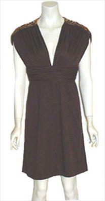 Jack Bryan Brown Vintage 60s Dress