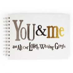 The Bright Side Wedding Guest Book - You & Me and All our Guests - I have just bought this!!!!