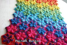 Felted Button: ::Star Fruit Rug & Blanket Crochet Pattern::