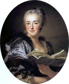 Marie-Jeanne Buzeau, wife of François Boucher, by Alexandre Roslin, exhibited at the Salon of 1761