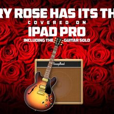 Remember Bret Michaels, C.C. DeVille and their great band Poison?  I've covered their song #EveryRoseHasItsThorn on an iPad Pro including the guitar solo… using only the GarageBand app. (Sorry CC) #iphonecoversonline