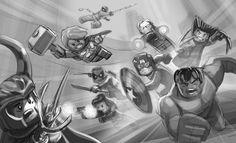 Lego Marvel Super Heroes Part 1: Teaser Ads on Behance