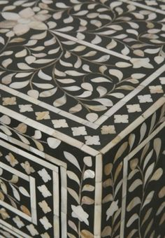 mother of pearl inlay bedside cupboard