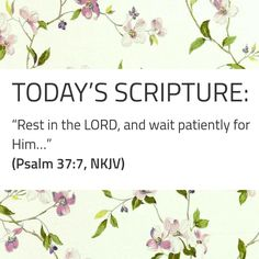 Today's Scripture, Scripture For Today, Psalm 37 7, Psalms, Lord, Quotes, Quotations, Quote, Shut Up Quotes