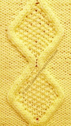 Moss Stitch Diamonds is worked on a panel of and a repeat. Knitting Patterns Free Dog, Knitting Squares, Knitting Charts, Knitting Stitches, Knitting Designs, Knit Patterns, Crochet Pattern, Stitch Patterns, Knit Crochet