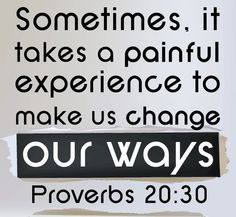 Proverbs 20:30 (NLT) - Physical punishment cleanses away evil; such discipline purifies the heart.