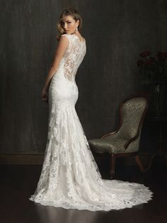 Allure Wedding Dresses - Style 9068 OMG ummmmm the back of this dress is speaking sexy sweet nothings to me!