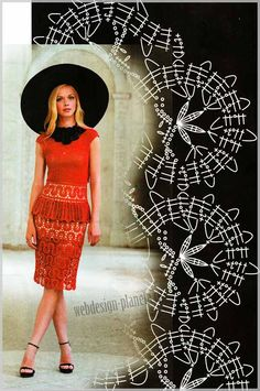 Костюм - топ и юбка крючком | Вязание спицами, вязание крючком | Мир увлечений современной женщины.