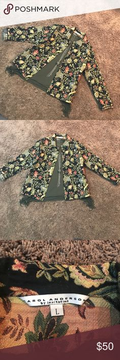 Carol Anderson CAbi tapestry jacket/blazer Carol Anderson by Invitation tapestry jacket/blazer• Excellent condition except its missing the 4th button down• fitted and waist length• looks great with skinny jeans! Make an offer!! CAbi Jackets & Coats Blazers