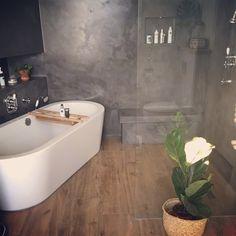 Combinatie van hout en beton in je interieur