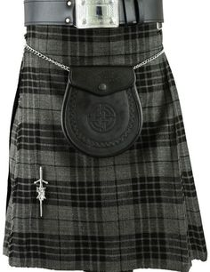 Grey Scottish Mens Kilt Tartan Kilts Traditional Highland dress MODERN PRINCE…