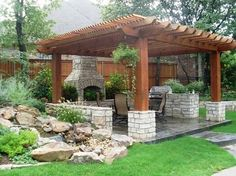 Amazing Modern Pergola Patio Ideas for Minimalist House. Many good homes of classical, modern, and minimalist designs add a modern pergola patio or canopy to beautify the home. Backyard Patio Designs, Backyard Pergola, Pergola Designs, Pergola Plans, Pergola Kits, Backyard Landscaping, Patio Ideas, Backyard Ideas, Landscaping Ideas