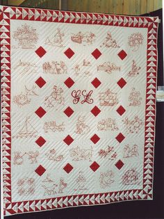 I love this redwork quilt.