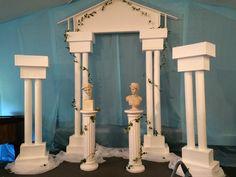 Greek Gods Bat Mitzvah Centerpieces Athena Poseidon