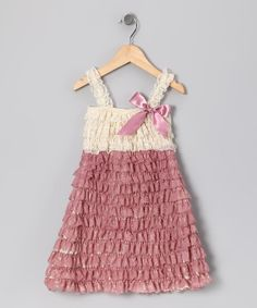 Ivory and Rose Shabby Chic LaceBirthday by TheRuffledbum on Etsy, $23.95