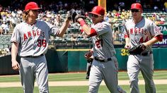 Weaver, Trout, Trumbo. Love these three but Trout will be my bf;)