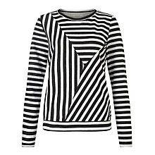 Numph Andrea Cut Stripe Sweatshirt, Caviar