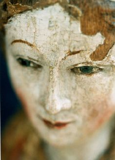 Faces of wood and plaster by photographer Annet van der Voort