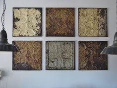 Old pressed Tin tiles