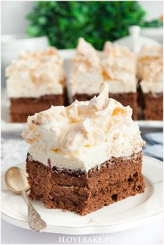 Dessert Cake Recipes, Cake Cookies, Vanilla Cake, Sweet Tooth, Good Food, Food And Drink, Tasty, Sweets, Cooking