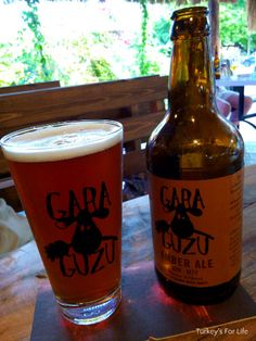Turkish craft beer in #Fethiye: Gara Guzu Amber Ale, Sarge's Place, Çalış