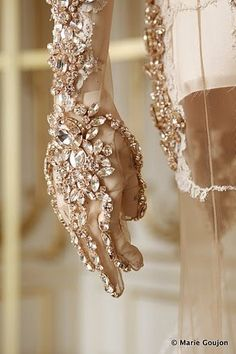 for the most glamorous of hands - decadent hand beaded, rhinestone's, and crystals