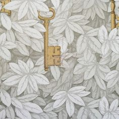 Cole and Son Wallpaper Fornasetti II Collection Chiavi Segrete 97-4012 Linen and Gold £140/roll