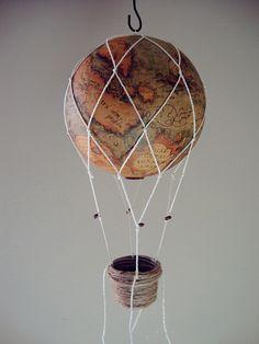 Balloon Crafts, Balloon Decorations, Baby Shower Decorations, Map Crafts, Arts And Crafts, Autumn Room, Birthday Balloons, Hot Air Balloon, Nursery Decor