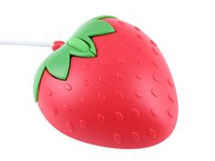 It's a Strawberry USB Optical Mouse. Carry on. Strawberry Mouse, Cute Strawberry, Strawberry Shortcake, Strawberry Fields Forever, Cute Office, Cute Princess, Kawaii Stuff, Ipod Cases, Gadgets And Gizmos