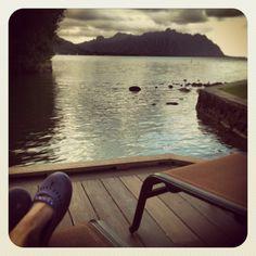 Kick Back, Relax. Imagine yourself at...Paradise. #paradise #paradisebay #paradisebayresort #Oahu #Hawaii #Kaneohe #Kanoehebay #bay #windward #resort #pier #marina #feet