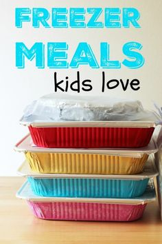 Website Freezer Meals Kids Love Life as Mom - Looking for freezer meals kids love? Ive got you covered. These freezer meals will please the kids AND save you time and money. http:freezer-meals-kids-love Plan Ahead Meals, Make Ahead Freezer Meals, Crock Pot Freezer, Freezer Recipes, Crockpot Meals, Freezer Chicken, Easy Recipes, Premade Freezer Meals, Individual Freezer Meals