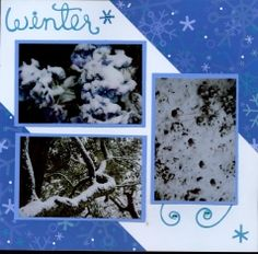 winter snow scrapbook layouts - Google Search