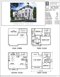 Four Story Townhouse Plan Lot 9 Townhouse Interior, Modern Townhouse, Townhouse Designs, Minecraft Houses Blueprints, House Blueprints, Modern House Plans, House Floor Plans, Building Plans, Building Design