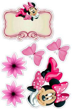 Mini Y Mickey, Baby Mickey, Mickey Party, Minnie Mouse Pics, Minnie Mouse Rosa, Minnie Mouse Birthday Decorations, Diy Party Decorations, Mini Mouse Cake, Lol Doll Cake