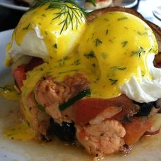 Lovely Salmon Hash from Blu Jam Cafe in LA - instant food coma!
