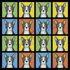boston terrier cartoon pictures   Boston Terrier Cartoon Pop-Art T-Shirt