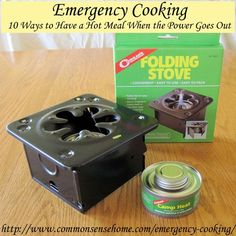 Emergency Cooking – 10 Ways to Have a Hot Meal When the Power Goes Out: There are a number of different options for heating food without electricity. In this post we'll cover everything from simple heating to large scale cooking for emergency situations.