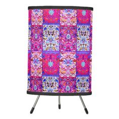 Boho Patches Tripod Lamp - diy cyo customize create your own personalize