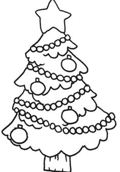 Christmas Tree Small And Attractive Coloring Page